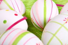 Free Closeup Of Several Easter Eggs Royalty Free Stock Photos - 2138878