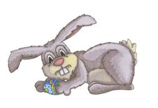 Easter Bunny With Easter Egg Stock Image