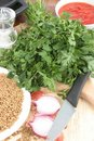 Free Parsley And Soup Ingredients Stock Image - 21305971