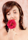 Free Beautiful Girl With Flowers Stock Photos - 21305973