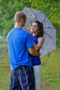 Free Couple Standing With Arms Around Each Other Stock Image - 21307021