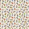 Free Seamless Cartoon Office Worker Pattern Royalty Free Stock Photo - 21309705