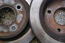 Free Old Car Brake Discs Stock Image - 21301811