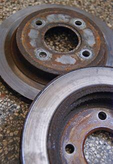 Free Old Brake Discs Royalty Free Stock Image - 21301836