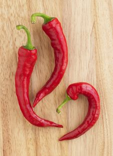 Free Red Hot Peppers Stock Photography - 21302012