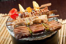 Free Japanese Skewered Meat Stock Photo - 21302220