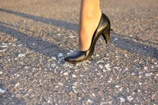Free Women S Foot Steps On The Glass Stock Images - 21302254