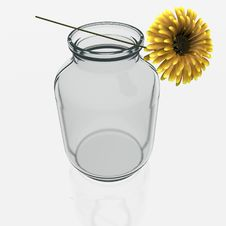 Free Jar With A Gerber Flower Royalty Free Stock Photography - 21302867