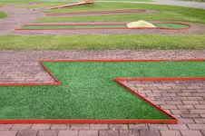 Free Golf  Training Field In The Resort Royalty Free Stock Photo - 21302885