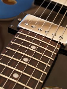 Jazz Guitar Royalty Free Stock Photo