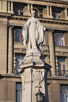 Big Monument Of Saint Mary. Royalty Free Stock Image