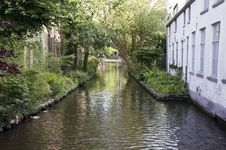 Free Canal In Bruges, Belgium Royalty Free Stock Photo - 21303275
