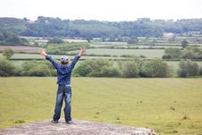 Free Boy At Classic England Landscape Stock Photography - 21303342