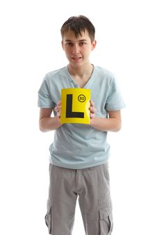 Free Teenager Holding L Plates Stock Images - 21303344