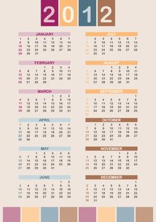 Free 2012 Calendar Stock Images - 21303424