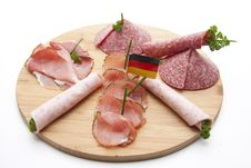 Ham With Salami And Herbs Royalty Free Stock Photography