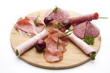 Free Ham With Salami And Cherries Stock Photo - 21303840