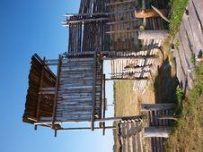 Free Gate To An Early-medieval Burg, Zmijowiska, Poland Royalty Free Stock Photos - 21303988