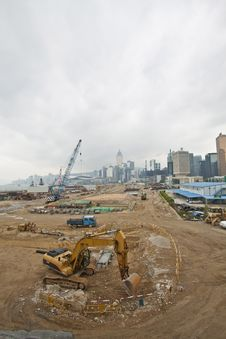 Free Construction Site For New Highway In Hong Kong Stock Image - 21303991