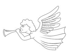 Free Angel With Trumpet Royalty Free Stock Images - 21304439