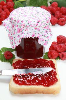 Free Homemade Raspberry Jam Stock Photos - 21304543