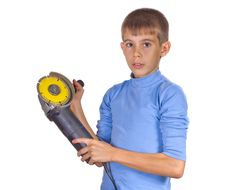 Free Boy With A Grinder Royalty Free Stock Image - 21304566