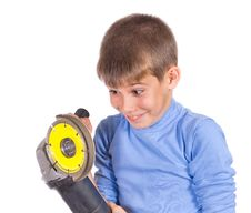 Free Boy With A Grinder Stock Photography - 21304792