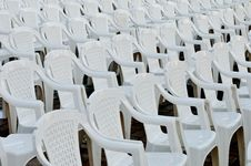 Free Rows Of Empty Chairs Royalty Free Stock Photography - 21304807