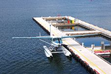Free Seaplane Parked In Vancouver BC, Canada. Stock Photos - 21304883
