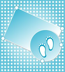 Baby Boy Announcement Greeting Card. Royalty Free Stock Photos