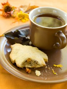 Pie And Tea Stock Images