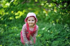 Playful Little Girl Royalty Free Stock Image