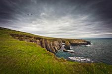 Free Ireland, Cliffs Under Dramatic Sky, Loop Head Stock Photo - 21305380
