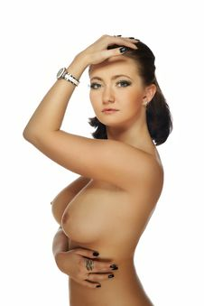 The Naked Brunette Royalty Free Stock Image