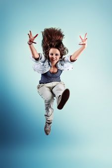 Free Jump Stock Photography - 21305902