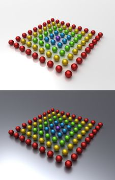 Chrome Balls Team Rainbow Royalty Free Stock Images
