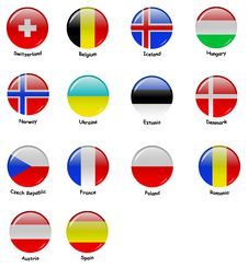 Free European Flages - Part 2 Royalty Free Stock Images - 21306609