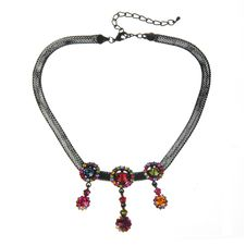 Necklace With Colourful Stones Royalty Free Stock Images