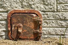 Free Old Rusted Metal Door Royalty Free Stock Photo - 21308255