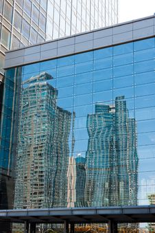Modern Building Reflection Stock Photo