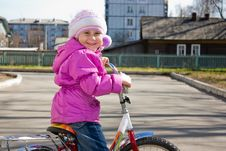 Free A Girl Riding A Bicycle. Stock Photos - 21309183