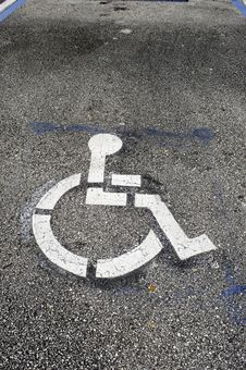 Handicaped Parking Logo Stock Image