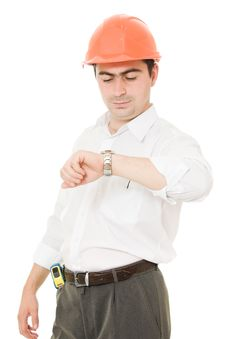 Free Businessman In Helmet. Royalty Free Stock Image - 21309426