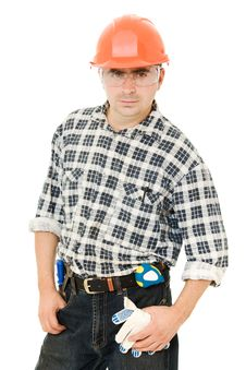 Free Worker In A Helmet Royalty Free Stock Image - 21309496