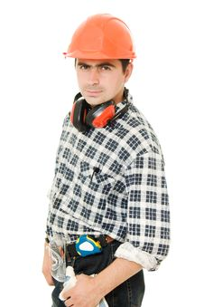 Free Worker In A Helmet Stock Photos - 21309503