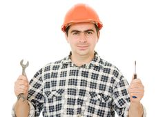 Free Successful Worker In A Helmet Stock Image - 21309551