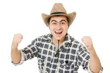Free Cowboy. Royalty Free Stock Photo - 21309645