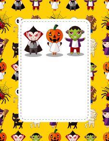 Free Cartoon Halloween Card Stock Photography - 21309762