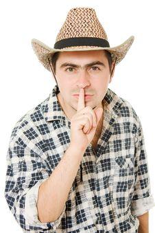 Free Cowboy Shows The Silence Stock Photos - 21309813
