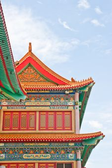 Free Chinese Temple In Thailand Stock Image - 21309851